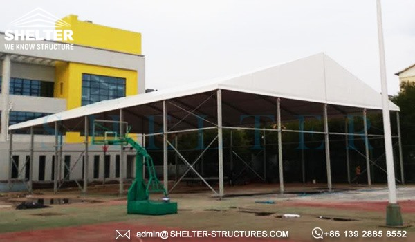 20 by 30m custom basketball court - 6m height sports arena for outdoor playground, school, gym center (3)