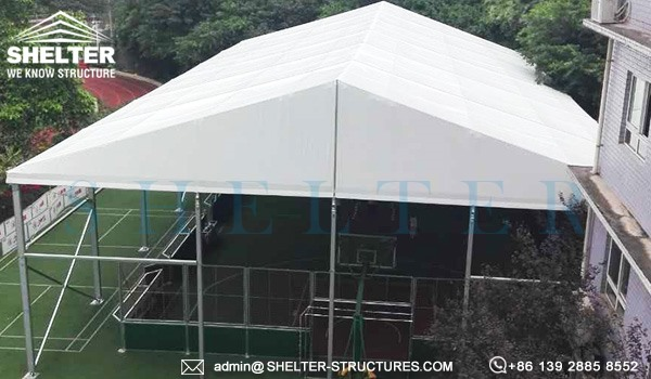 20 by 30m custom basketball court - 6m height sports arena for outdoor playground, school, gym center (4)