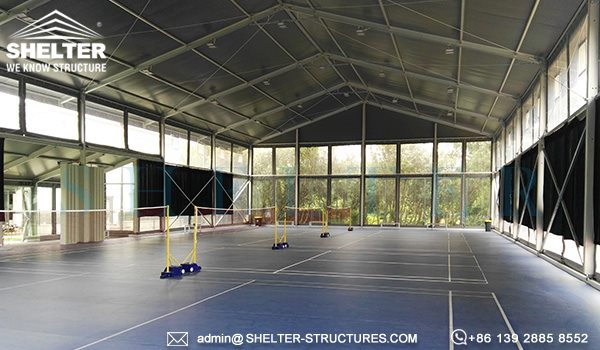 Shelter indoor badminton court construction supplier - badminton court equipment manufacturer -2